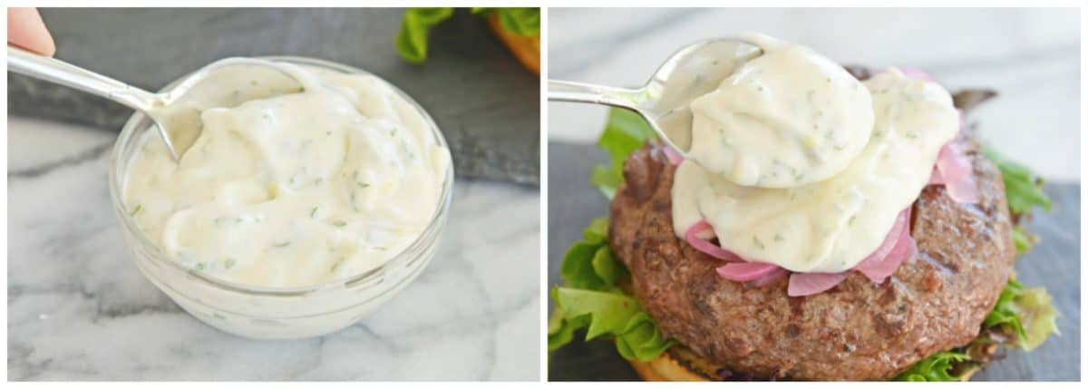 mint and lemon yogurt sauce for lamb burgers