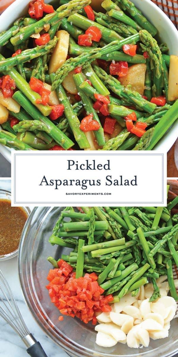 marinated asparagus salad for pinterest