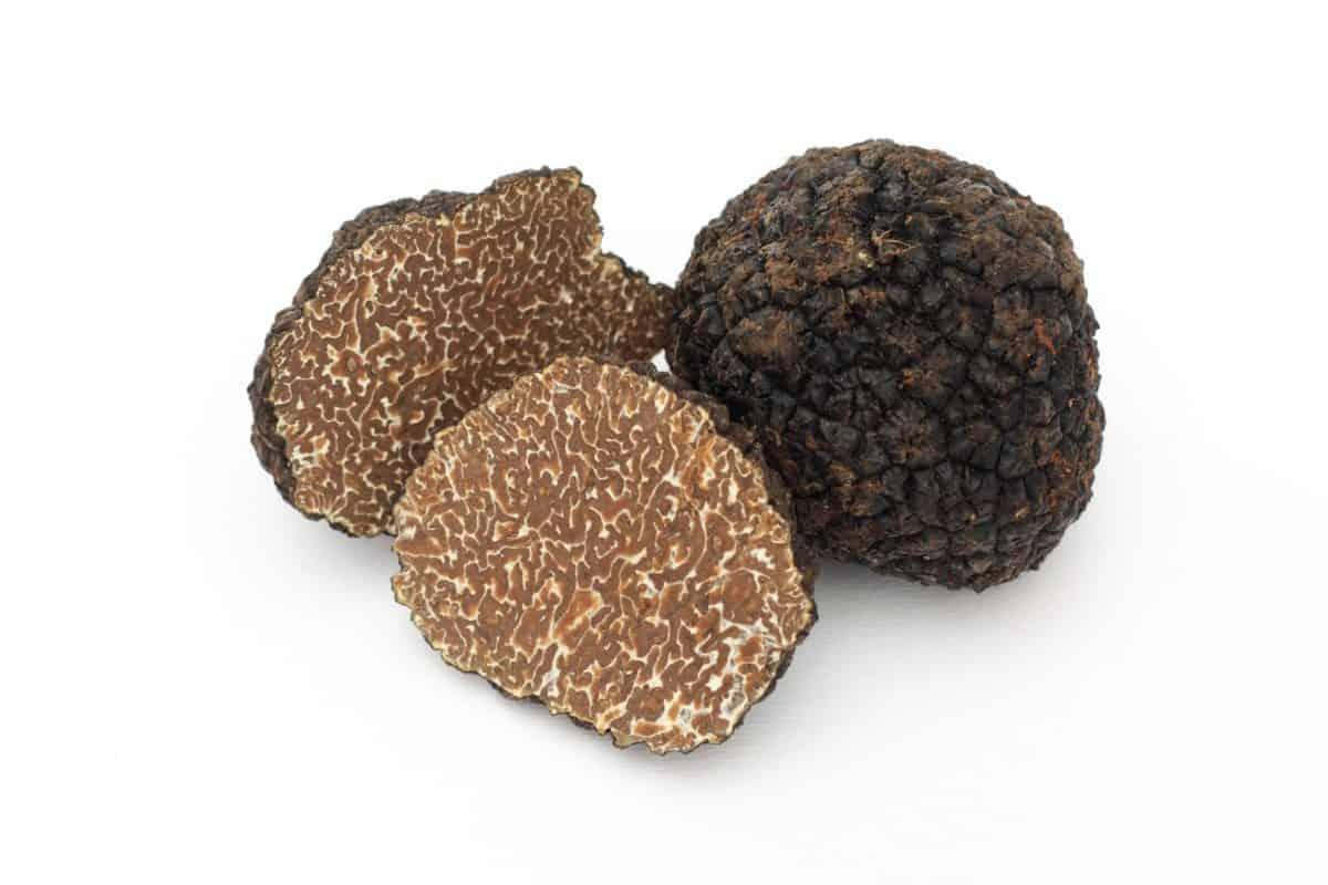 shaved black truffles