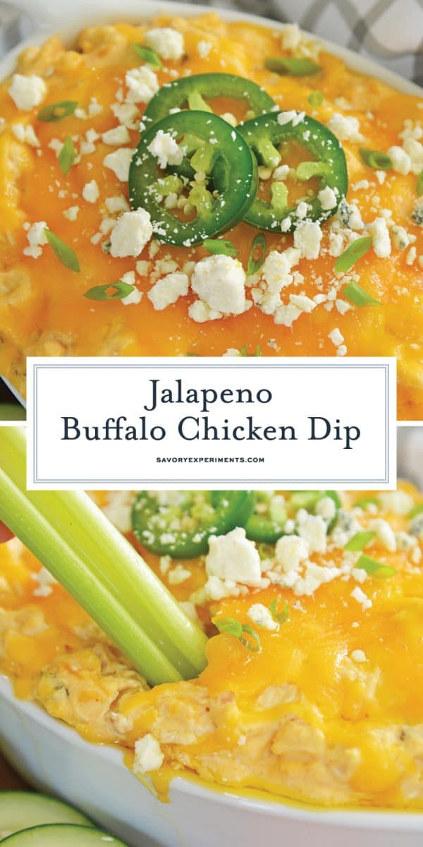 jalapeno buffalo chicken dip for Pinterest