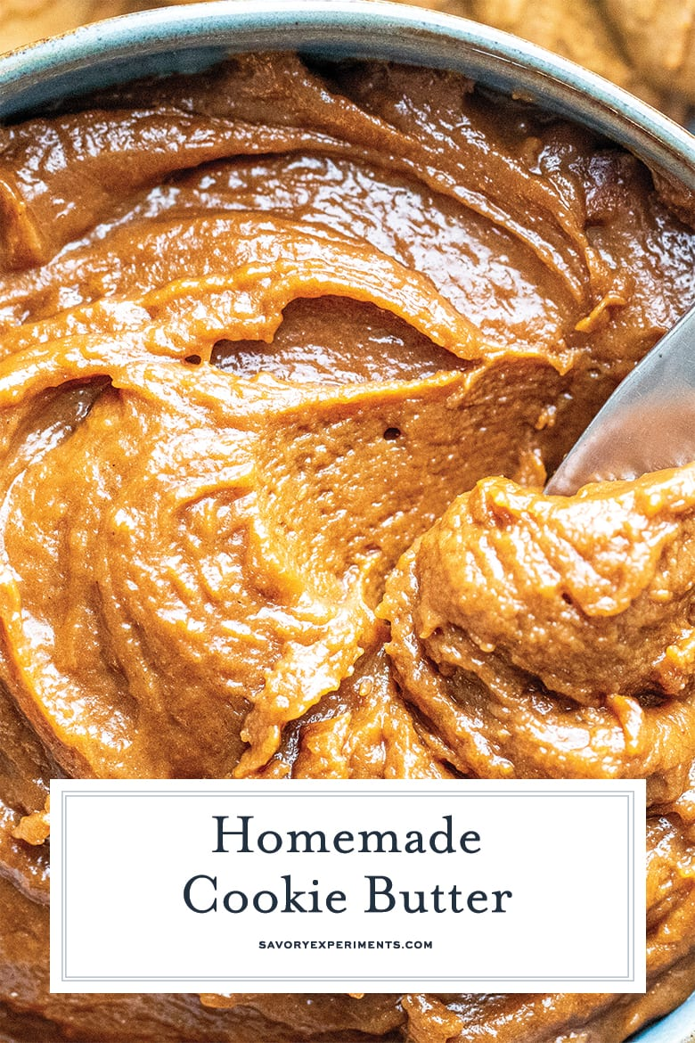 close up of cookie butter for pinterest