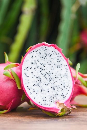 dragon fruit cut in half