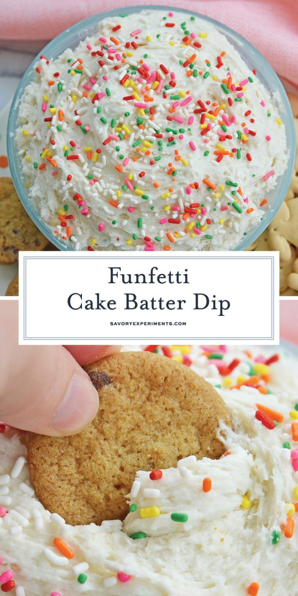 funfetti cake batter dip for pinterest