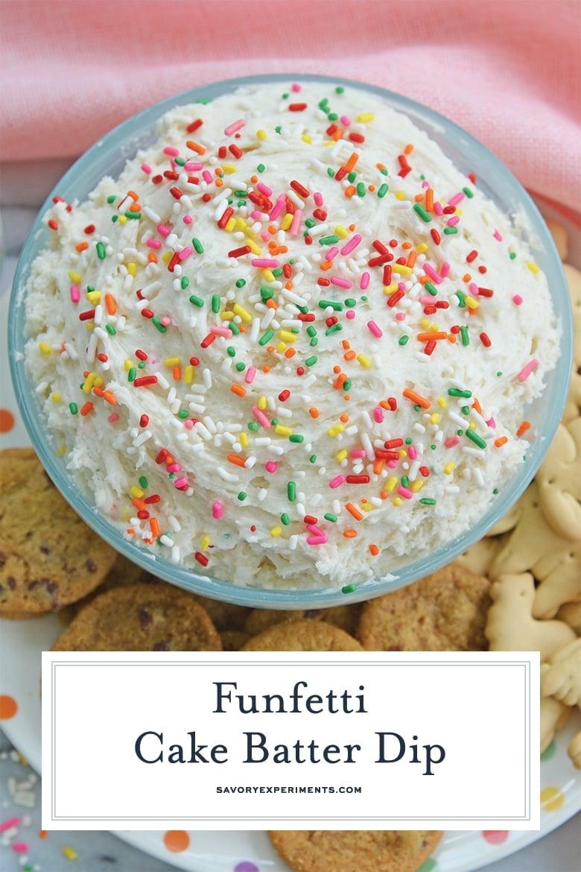 bowl of funfetti dunkaroo dip