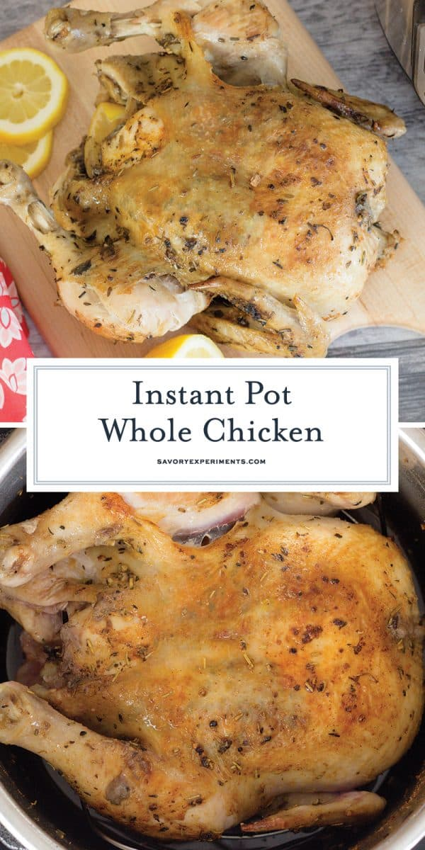 instant pot whole chicken for Pinterest