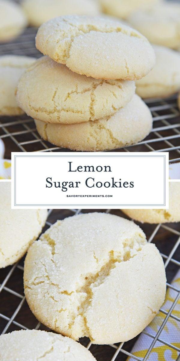 lemon sugar cookies for pinterest