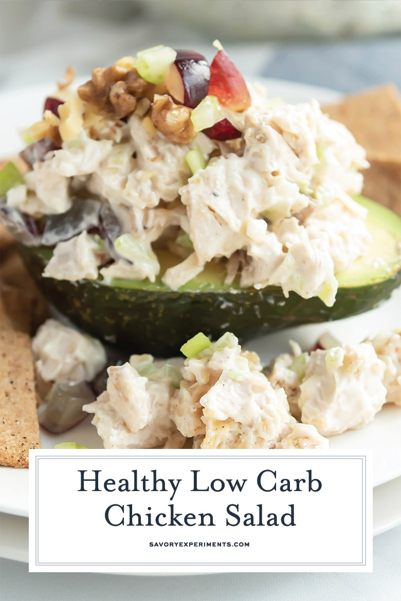 low carb chicken salad for pinterest