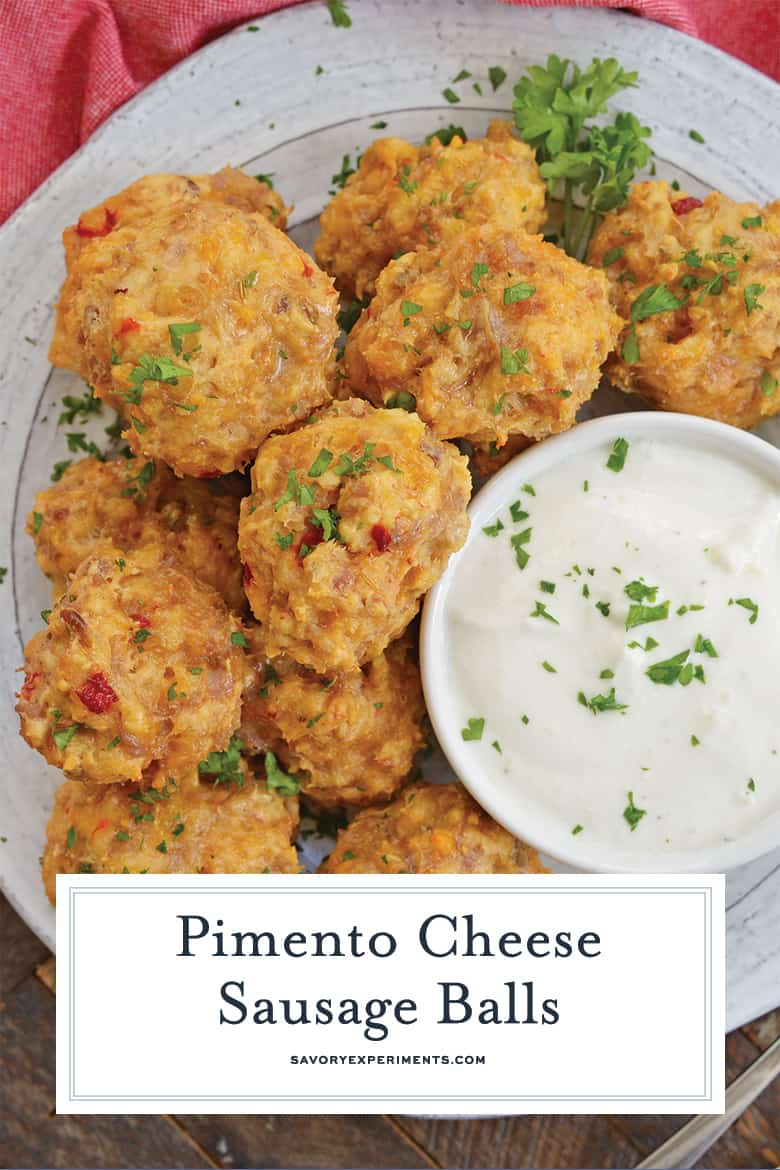 buttered pimento cheese sausage balls