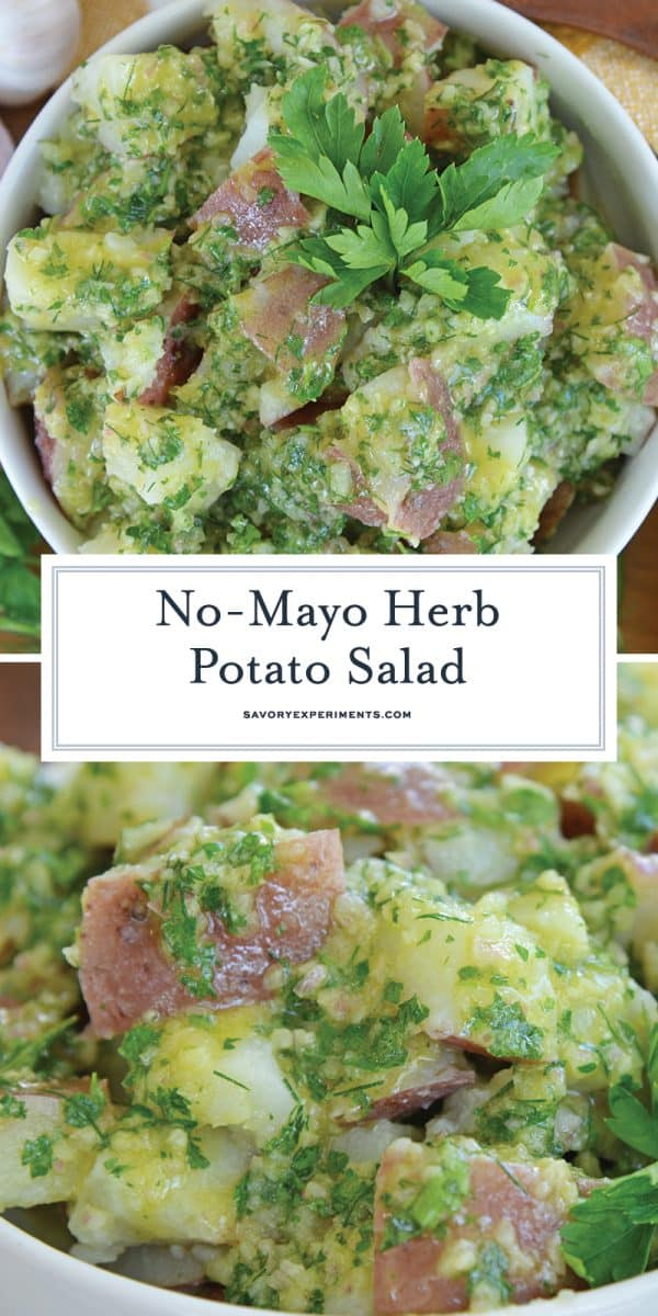 no mayo herb potato salad for Pinterest