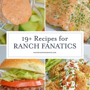 collage of ranch recipes