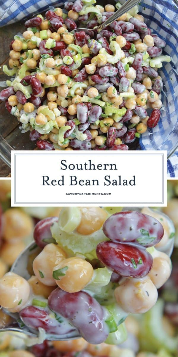red bean salad for Pinterest