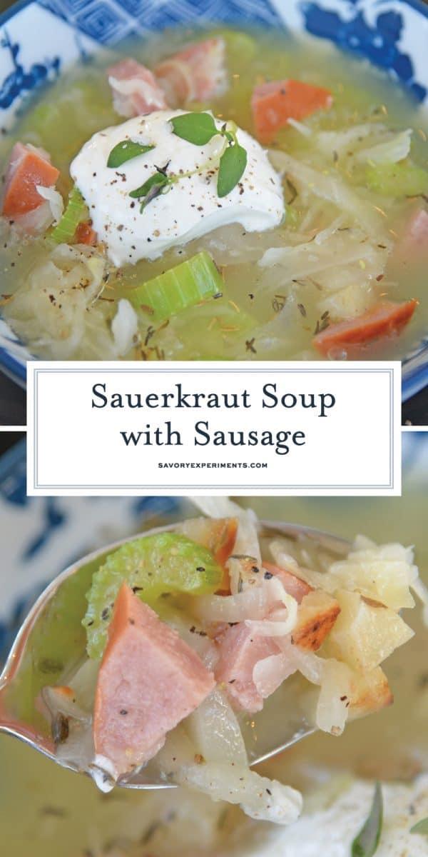 sauerkraut soup with sausage for pinterest