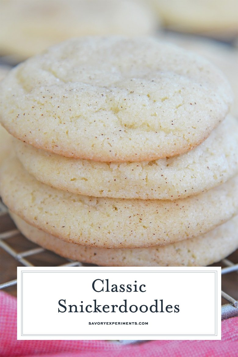 side view of classic snickerdoodle cookies