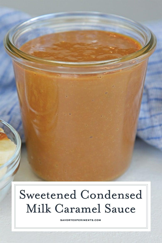 close up of homemade dulce de leche for pinterest