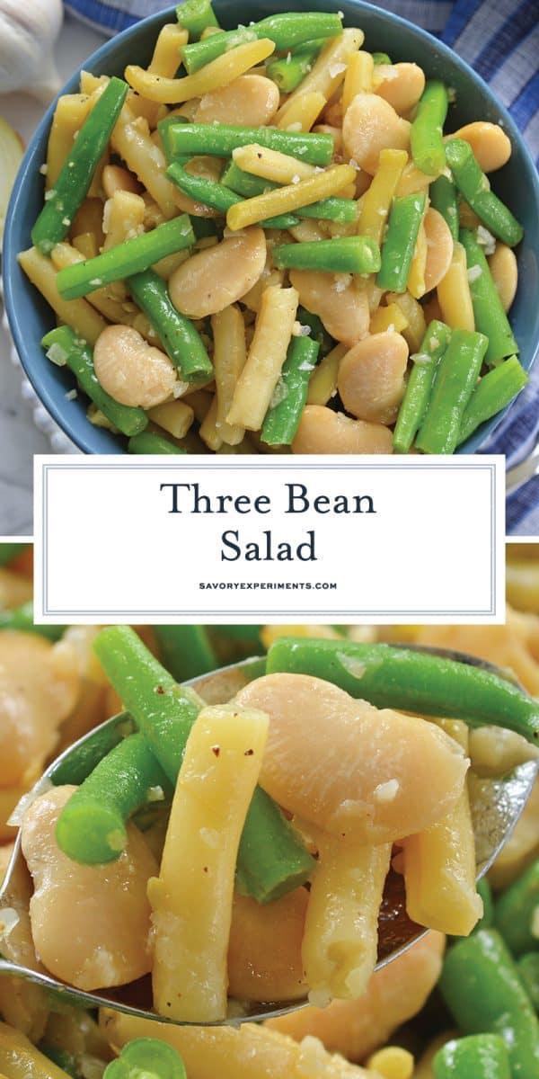three bean salad for pinterest