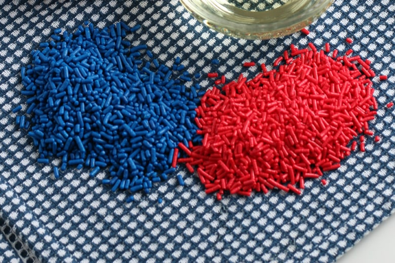 red and blue sprinkles