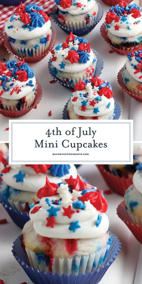 4th of july mini cupcakes for Pinterest