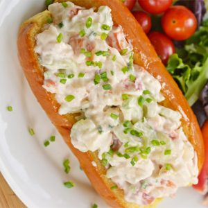 overhead of cold lobster roll