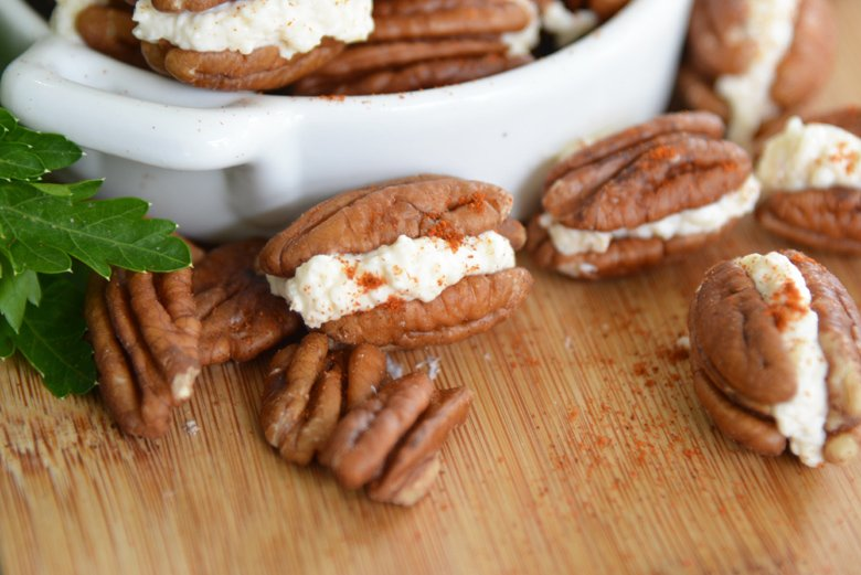 stuffed pecan sandwiches with smoked paprika