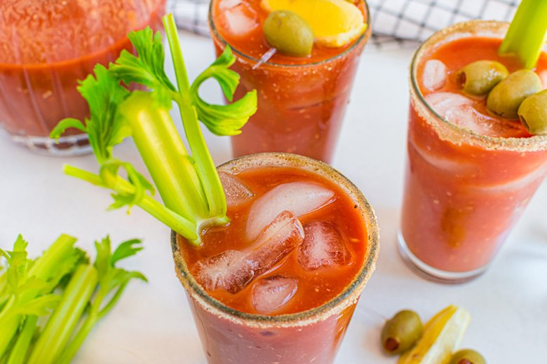 the best bloody mary mix in pint glasses