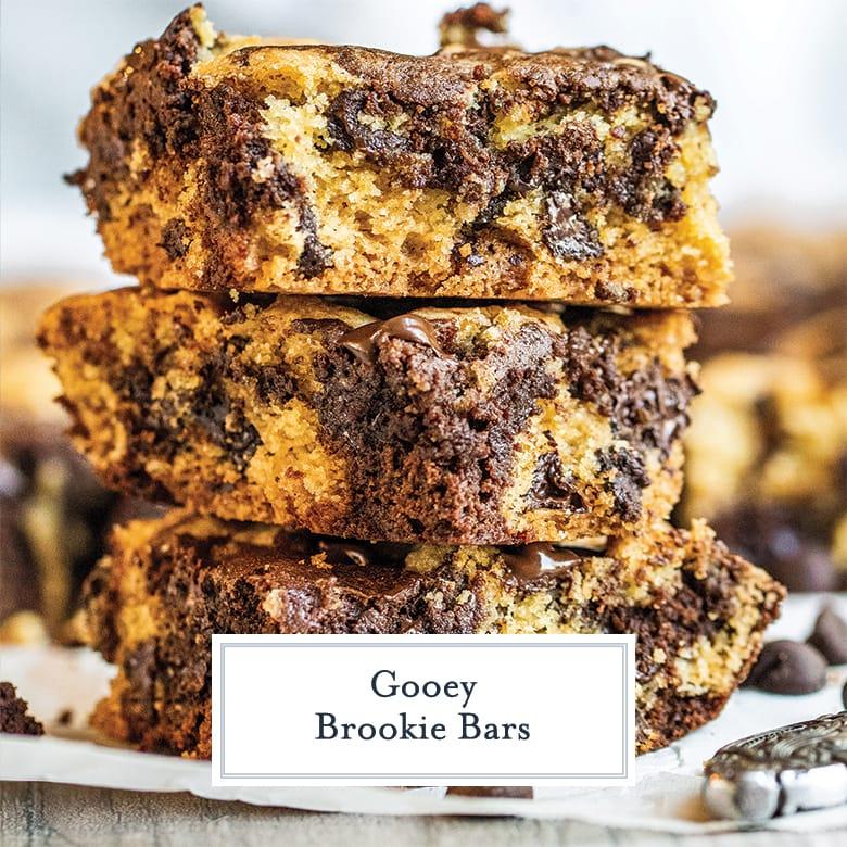 stack of 3 brookie bars