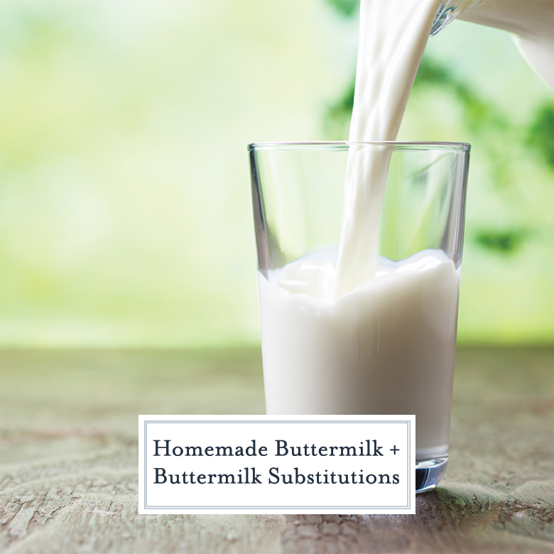 homemade buttermilk pouring into a glass with a green background