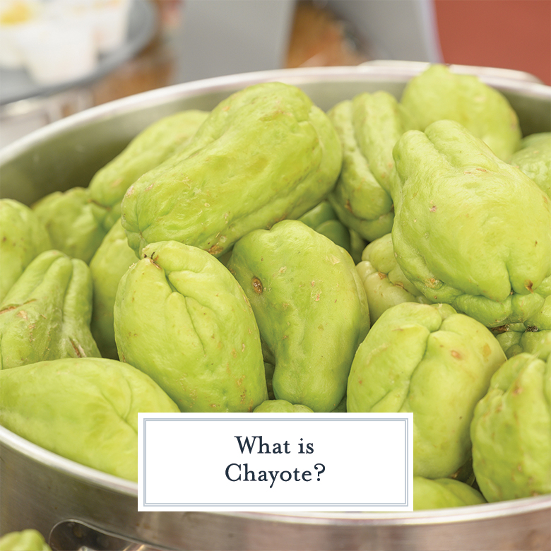 bowl of wrinkled green chayote