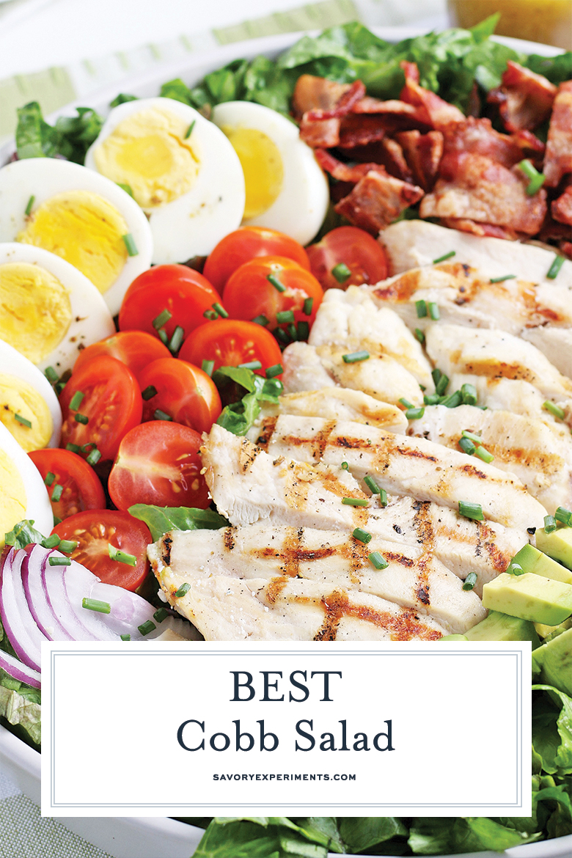 close up of cobb salad for pinterest
