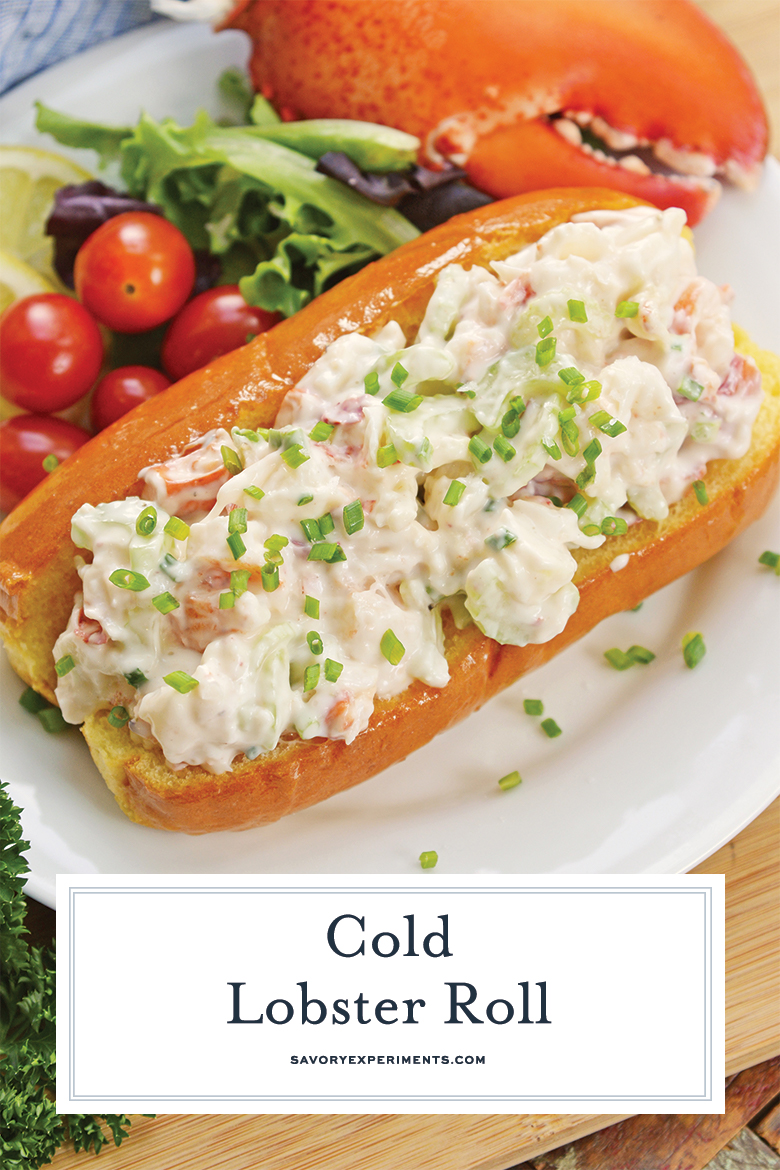 delicious and creamy lobster roll on split top bread