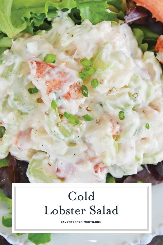 close up of lobster salad for pinterest