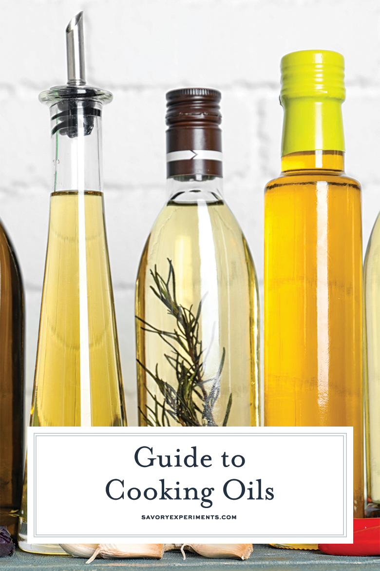 guide to cooking oils pin for pinterest
