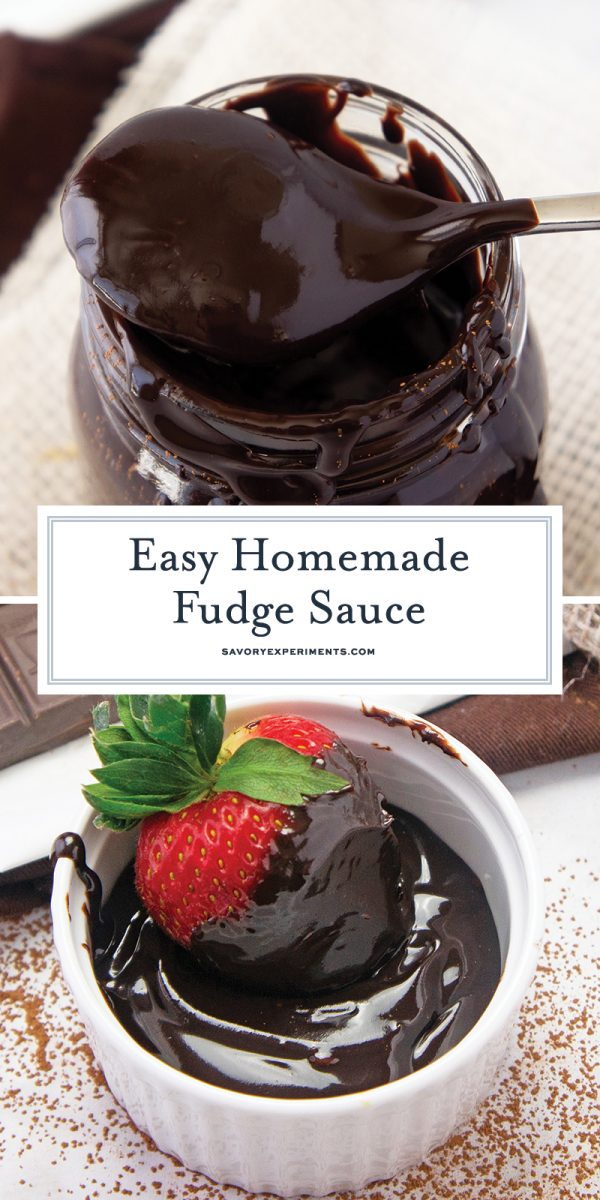close up of fudge sauce for pinterest