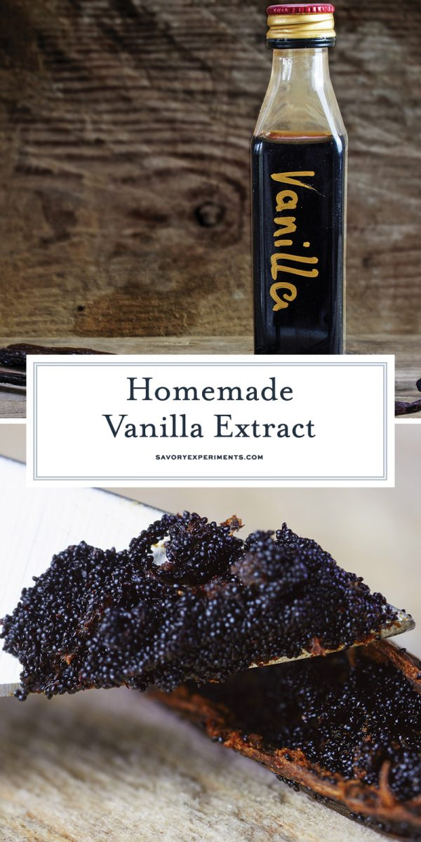Homemade vanilla extract for Pinterest