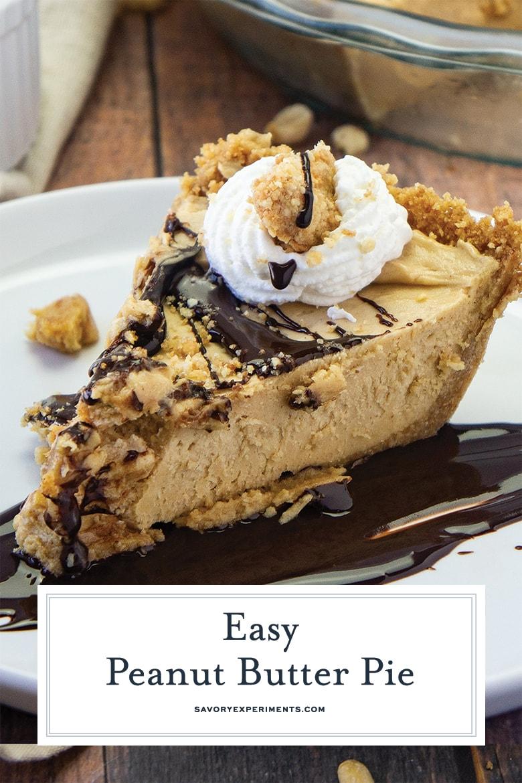 no bake peanut butter pie for pinterest
