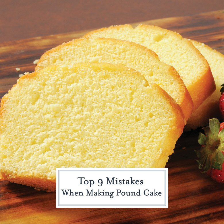 three slices of vanilla pound cake