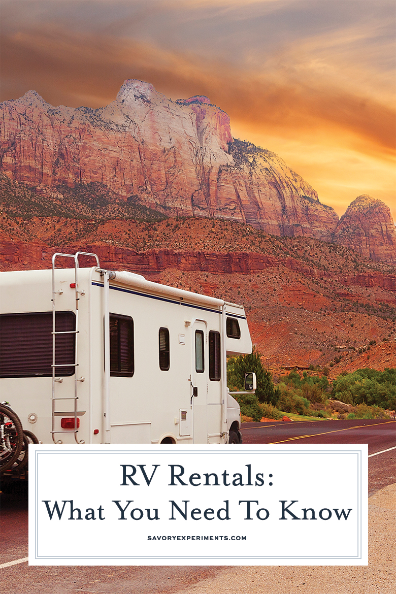 things to know about renting an RV for pinterest