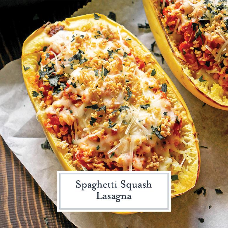spaghetti squash lasagna with panko topping