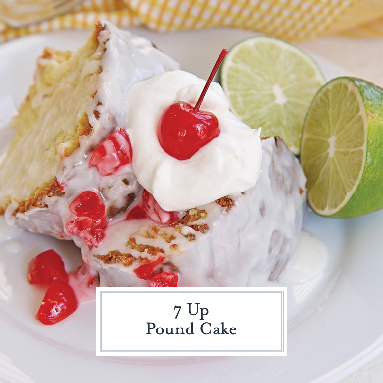 two slices of cake garnished with lime and cherries