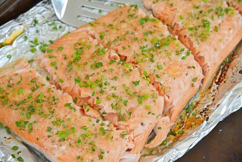 Apple Glazed Baked Salmon - Apple, Horseradish & Chives