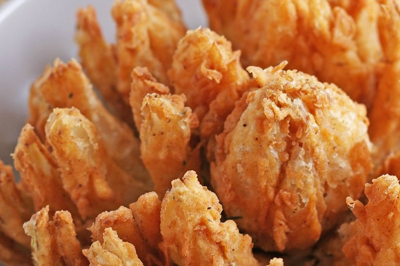 close up of fried onion