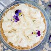 overhead of coconut cream pie