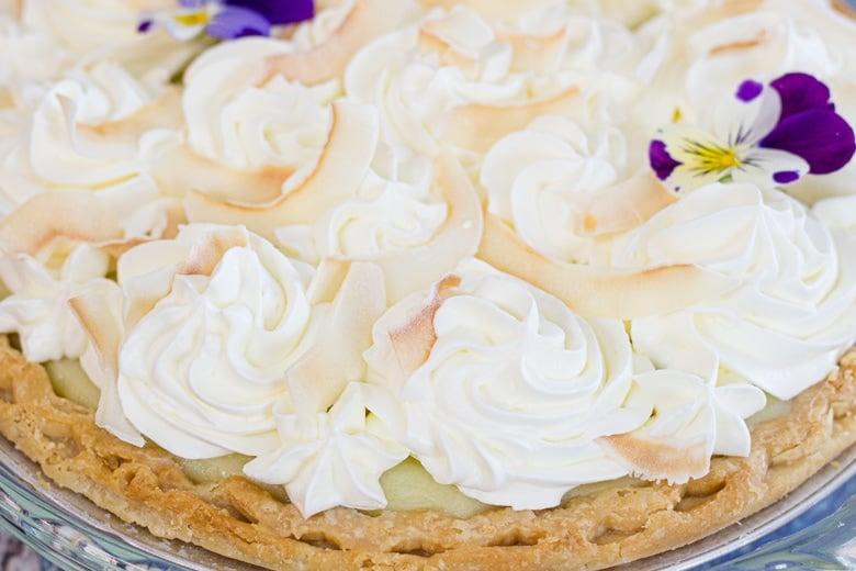 close up of whipped cream swirls