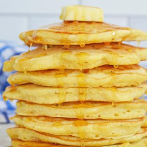 close up corn cakes