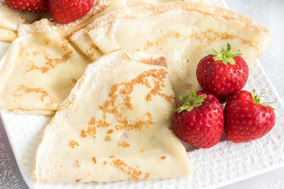 close up of folded crepe