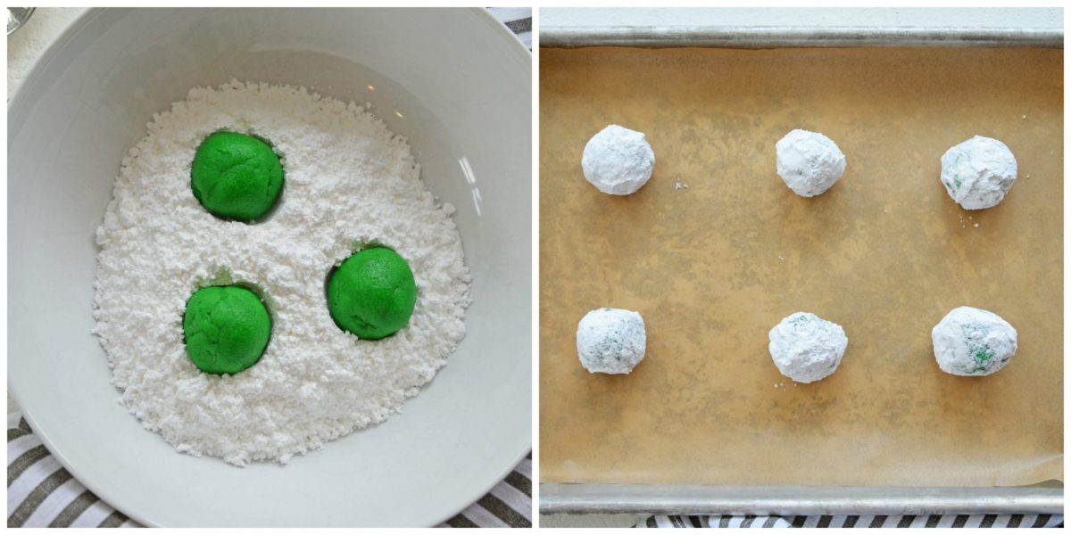 how to make mint crinkle cookies