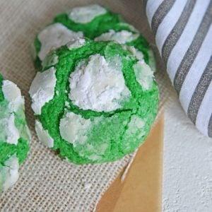 cool mint crinkle cookies