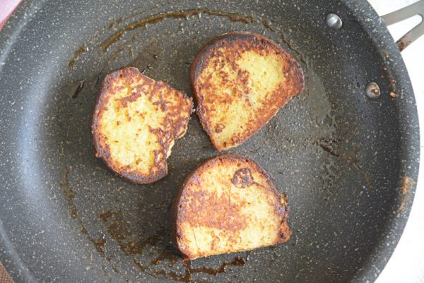 french toast in a frying pan