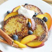 pound cake french toast with fresh fruit