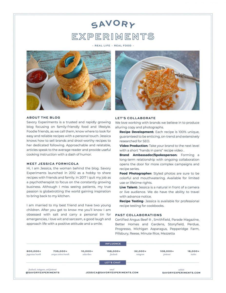 Savory experiments media kit
