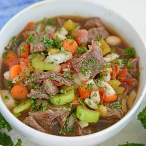 bowl of short rib soup